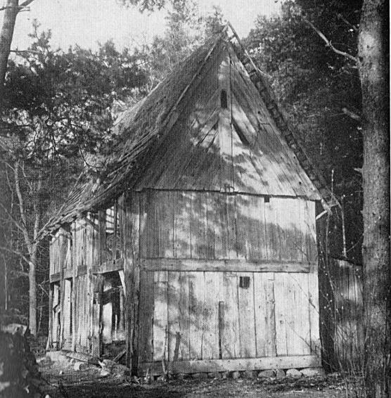Die Heidenhofer Kapelle vor dem Abbruch
