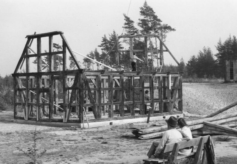 Der Wiederaufbau der Kapelle im Heide Park Resort Soltau