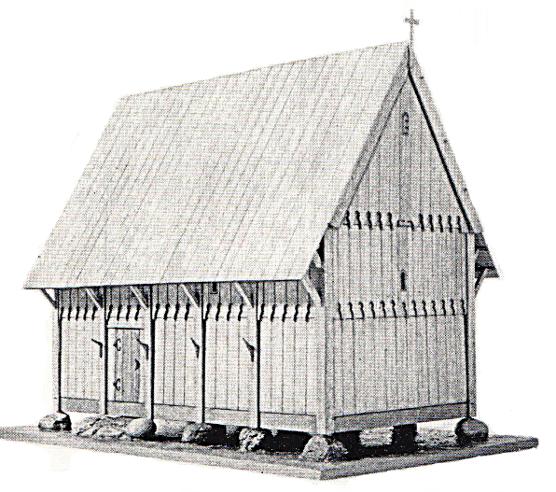 Modellhafte Rekonstuktion der Kapelle (nach Witt)